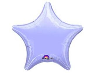 Шар 19'' (48см)  звезда пастель lilac