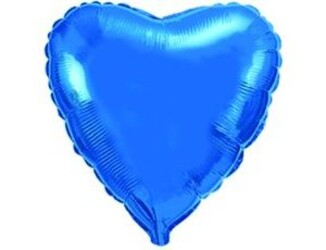 18''(45см) б рис  сердце металлик blue fm