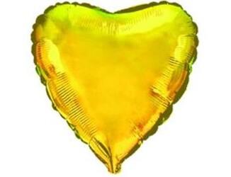 Шар 18'' (45см)  сердце металлик gold