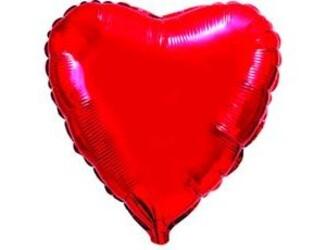 18''(45см) б рис  сердце металлик red fm