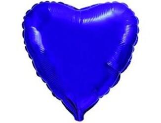 Шар 18'' (45см)  сердце металлик б рис   металлик violet fm
