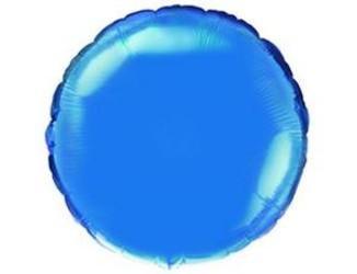 Шар 18'' (45см)  круг металлик blue