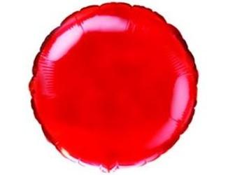 Шар 18'' (45см)  круг металлик red