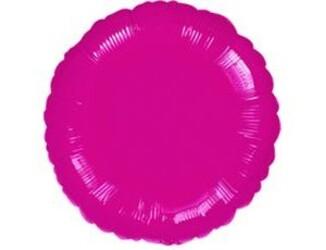 Шар 18'' (45см)  круг металлик burgundy