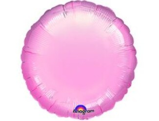 Шар 18'' (45см)  круг металлик pink