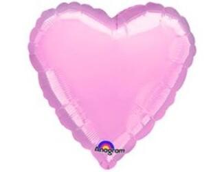 Шар 18'' (45см)  сердце металлик pink
