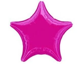 Шар 19'' (48см)  звезда металлик burgundy