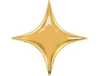 Шар 40'' (106см)  звезда gold