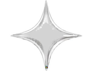 Шар 40'' (106см)  звезда silver