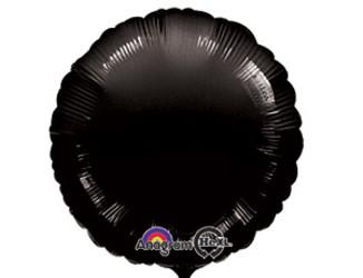 Шар 18'' (45см)  круг пастель black