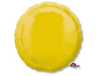 Шар 18'' (45см)  круг пастель yellow