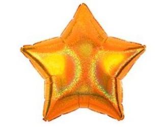 Шар 19'' (48см)  звезда gold