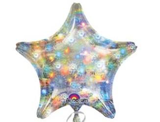 Шар 19'' (48см)  звезда б рис блеск   fireworks
