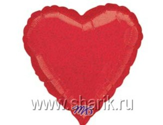 18''(45см) б рис блеск сердце  red