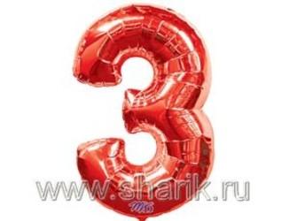 40''(106см) цифра 3 red