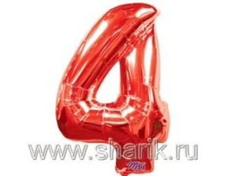40''(106см) цифра 4 red