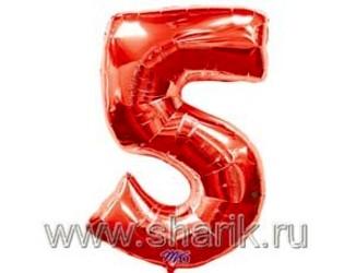 40''(106см) цифра 5 red