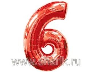 40''(106см) цифра 6 red