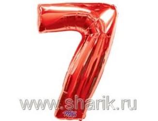 40''(106см) цифра 7 red