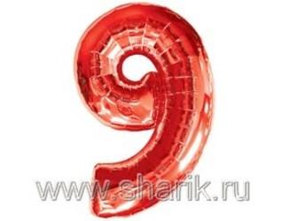 40''(106см) цифра 9 red