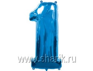 40''(106см) цифра 1 blue