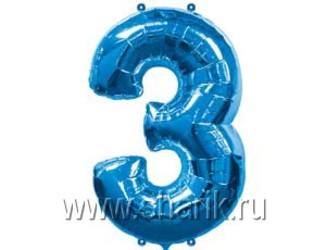 40''(106см) цифра 3 blue