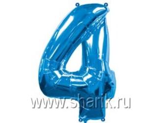 40''(106см) цифра 4 blue