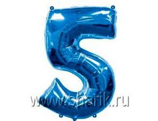 40''(106см) цифра 5 blue