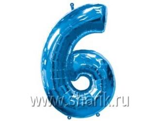 40''(106см) цифра 6 blue