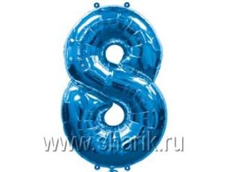 40''(106см) цифра 8 blue