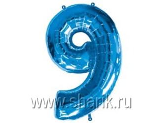 40''(106см) цифра 9 blue