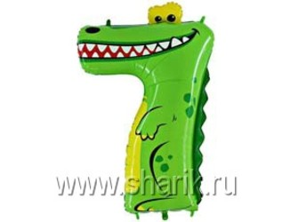 Шар 36'' (91см)  цифра    крокодил