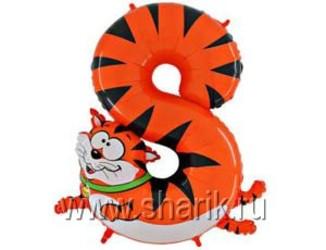 Шар 36'' (91см)  цифра    кот