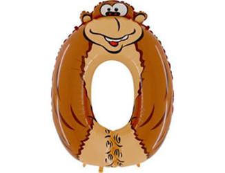 Шар 36'' (91см)  цифра    обезьяна
