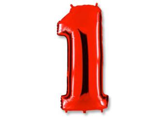 40''(106см) цифра 1 40  red
