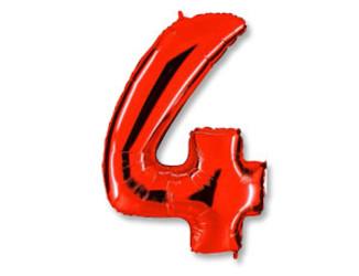 40''(106см) цифра 4 40  red