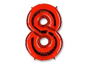 40''(106см) цифра 8 40  red