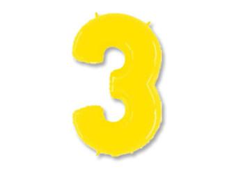40''(106см) цифра   яркий желтый