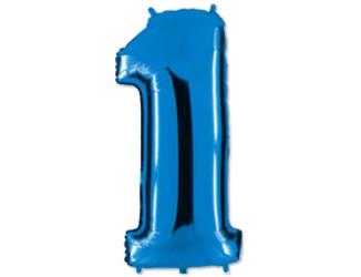 40''(106см) цифра 1 40  blue