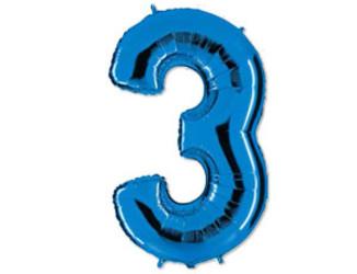 40''(106см) цифра 3 40  blue