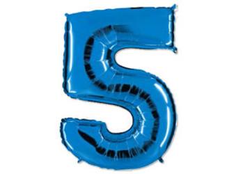 40''(106см) цифра 5 40  blue