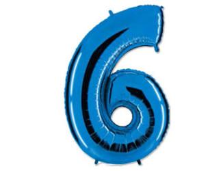 40''(106см) цифра 6 40  blue
