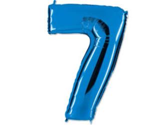40''(106см) цифра 7 40  blue