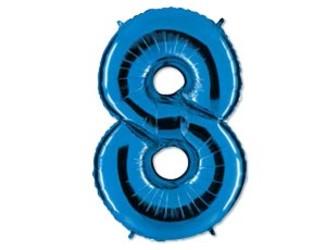 40''(106см) цифра 8 40  blue