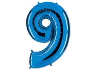 40''(106см) цифра 9 40  blue