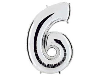 Шар 40'' (106см)  цифра silver