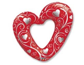 5''(13см) фигура сердце вензель