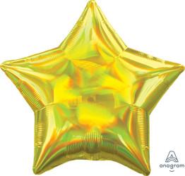 Шар 19'' (48см)  звезда металлик  см  блеск золото