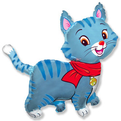 Шар 32'' (81см)  фигура     любимый котенок синий