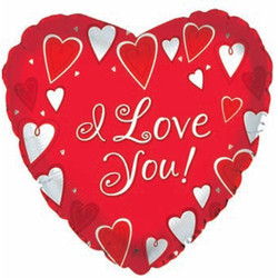 Шар 18'' (45см)  сердце     я люблю тебя классик красный